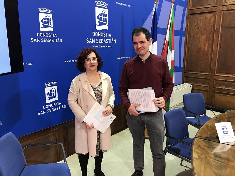 Amaia Almirall y Ricardo Burutaran. Foto: EH Bildu