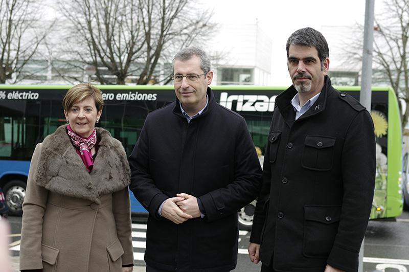 Arantxa Tapia, Markel Olano y Eneio Goia. Foto: Santiago Farizano