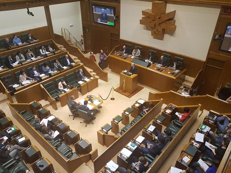 Imagen del pleno. Foto: Gobierno vasco