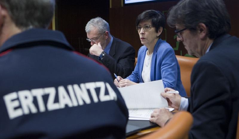 Beltrán de Heredia el lunes en el Parlamento. Foto: Gobierno vasco