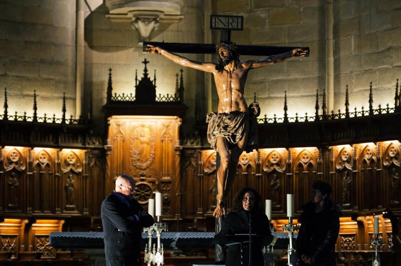 El Cristo de la Agonía, esta mañana, en el Buen Pastor. Foto: Santiago Farizano