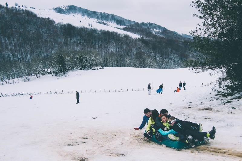 Imagen de la nevada de diciembre pasado. Foto: Santiago Farizano