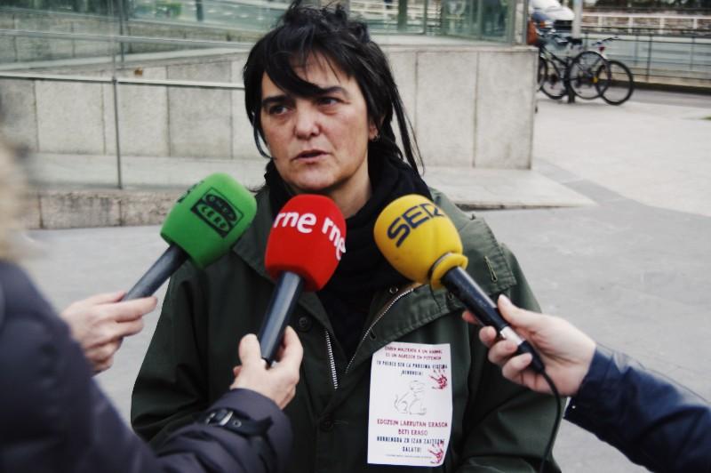 Representante de la Plataforma contra el Maltrato Animal de Gipuzkoa. Foto: Santiago Farizano