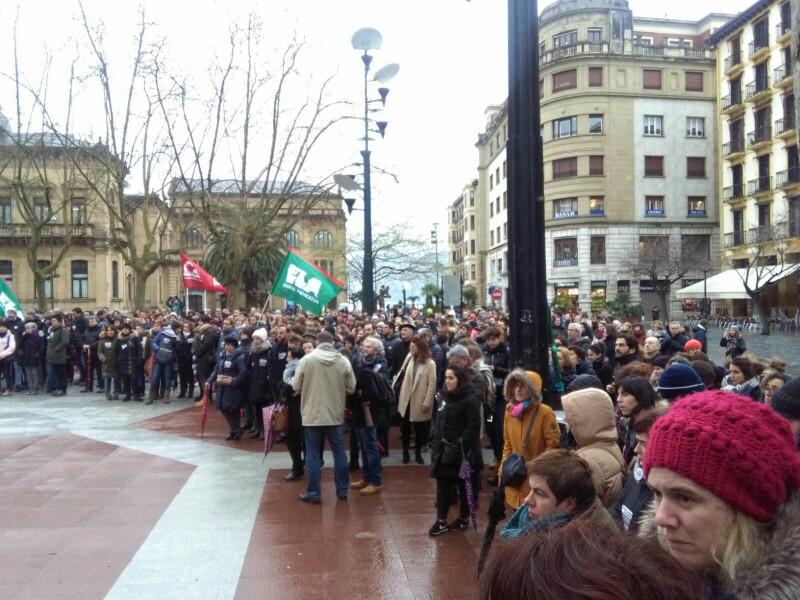 Imagen de una concentración de la enseñanza concertada en el Boulevard. Foto: A.E.