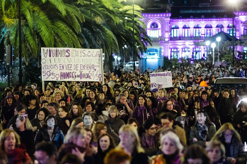 Manifestación del pasado 8 de marzo. Foto: Santiago Farizano