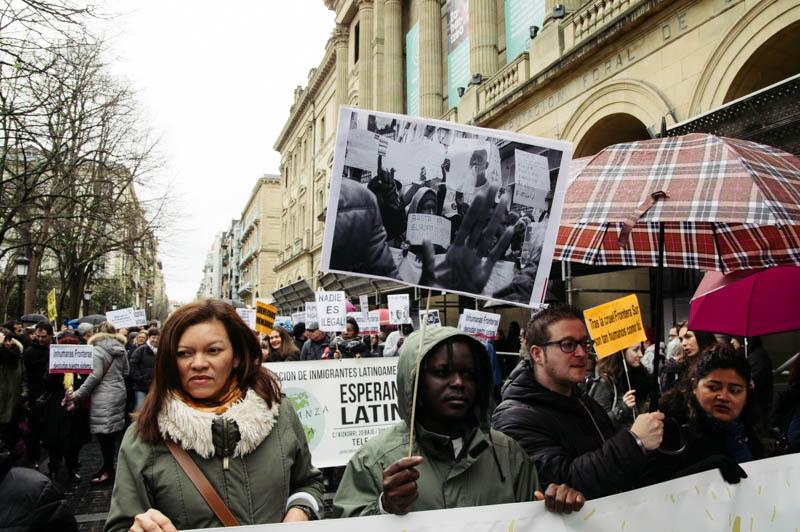 Marcha contra el Racismo y la Xenofobia de 2018. Foto: Santiago Farizano