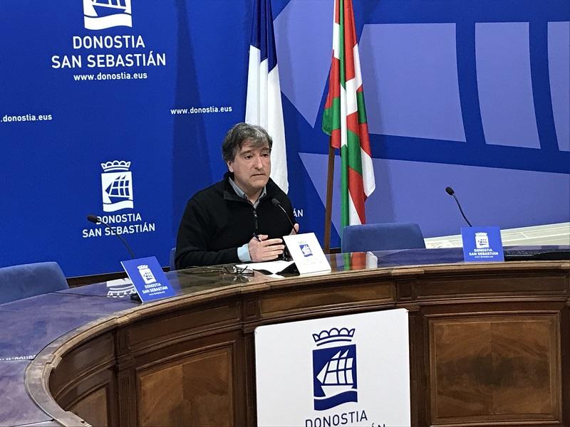 El concejal Josu Ruiz. Foto: EH Bildu