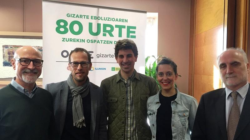 Pablo González, Javier Domínguez, Jon Insausti, Itsaso Martín y Juan Carlos Andueza. Foto: ONCE