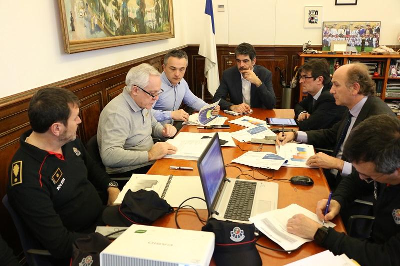 Reunión de coordinación de seguridad. Foto: Ayto.