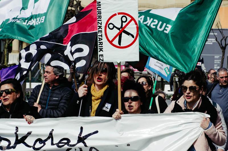 Protesta de los docentes el pasado mes. Foto: Santiago Farizano