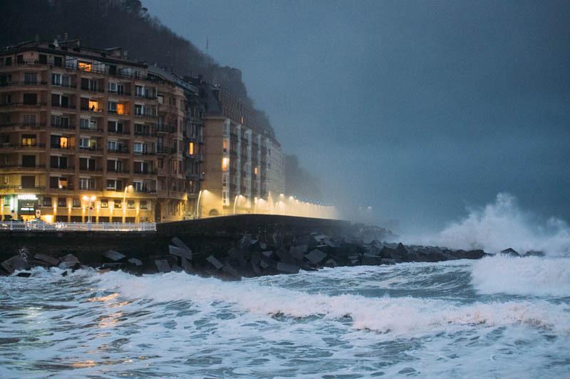 Imagen de uno de los temporales del pasado enero. Foto: Santiago Farizano