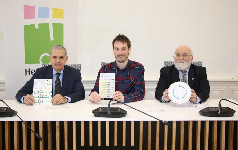 Iñaki Betolaza, Xabier Lertxundi y Ángel Garay. Foto: Colegio Oficial de Farmacéuticos