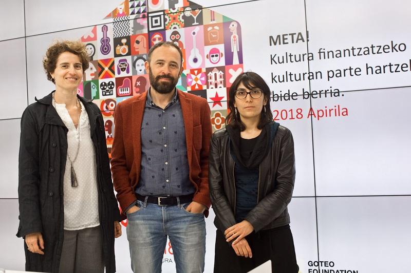 María José Telleria, Denis Itxaso y Manuela Frudá. Foto: Diputación