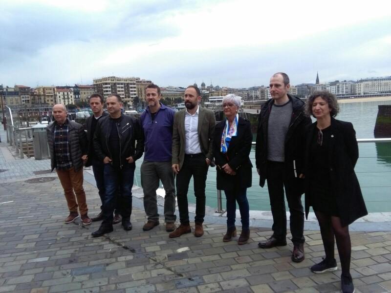 Representantes de Diputación, ayuntamientos, Albaola, Untzi museoa y Fundación Elkano Mundubira. Foto: A.E.