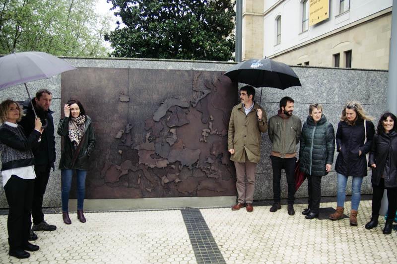 Eneko Goia en la presentación del mapa este mediodía. Foto: Santiago Farizano