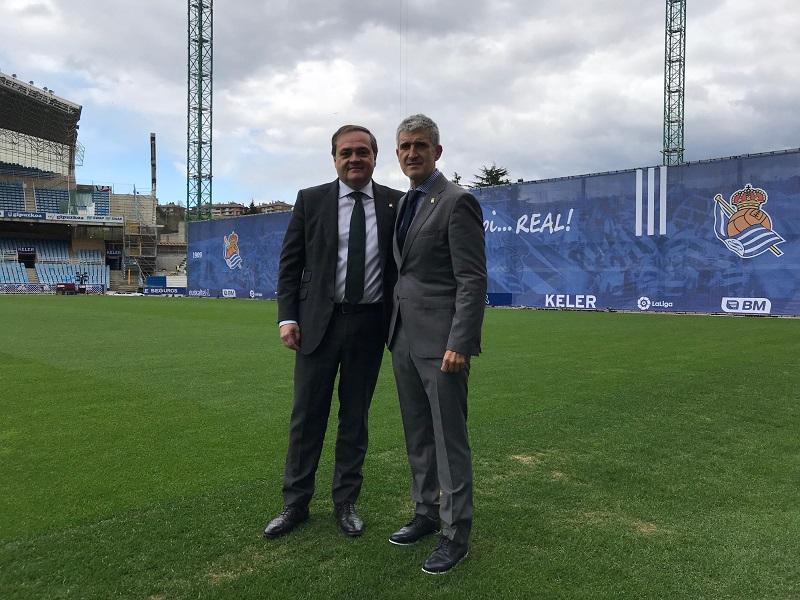 Aperribay y Olabe. Foto: Real Sociedad