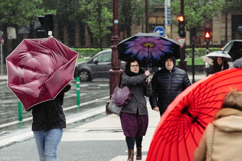 Jueves y viernes lloverá, según Euskalmet. Foto: Santiago Farizano