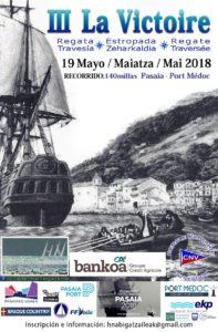 """la victoire 197x300 - La travesía en velero """"La Victoire"""" se sumará a la fiesta del Festival Marítimo de Pasaia"""