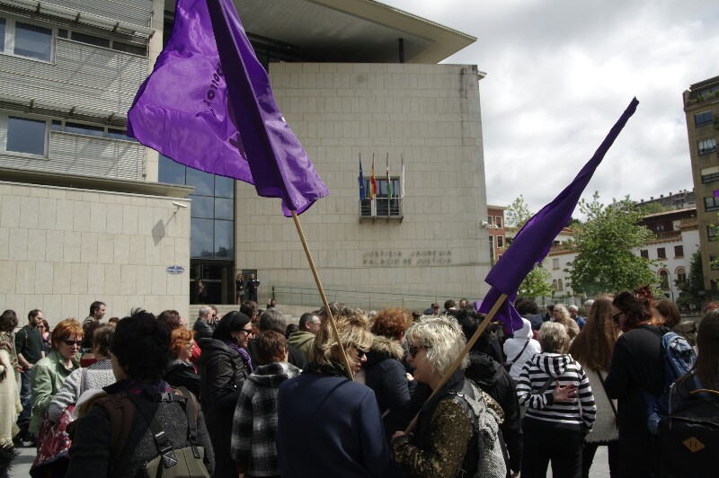 Día de la entrada en prisión de Kote Cabezudo, el pasado 4 de mayo. Foto: Santiago Farizano
