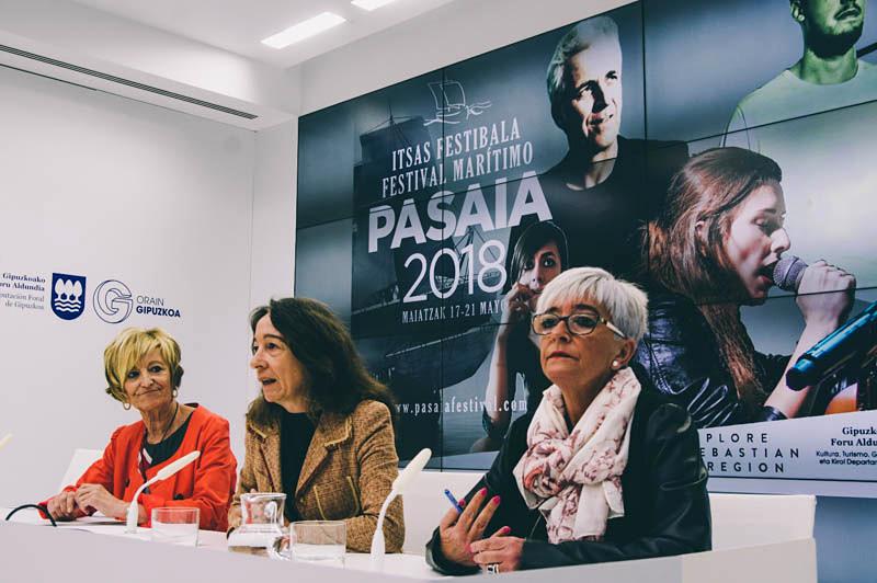 Presentación del operativo de acceso a Pasaia durante su festival. Foto: Santiago Farizano