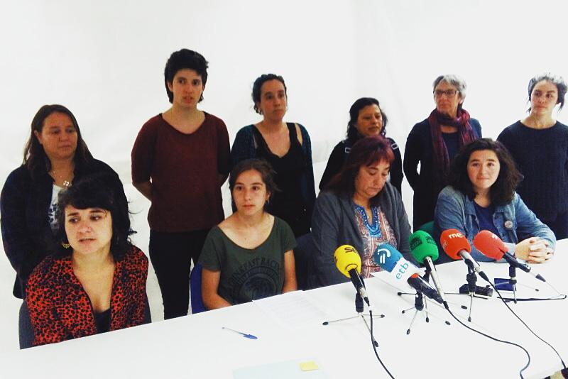Las denunciantes, el 7 de mayo, en la Casa de las Mujeres. Foto: A.E.