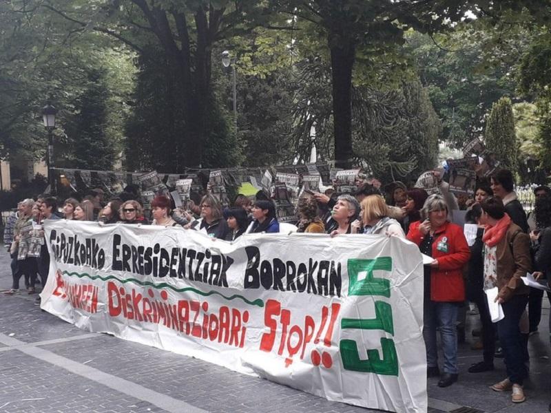 Imagen de una protesta de las trabajadoras de las residencias. Foto: ELA
