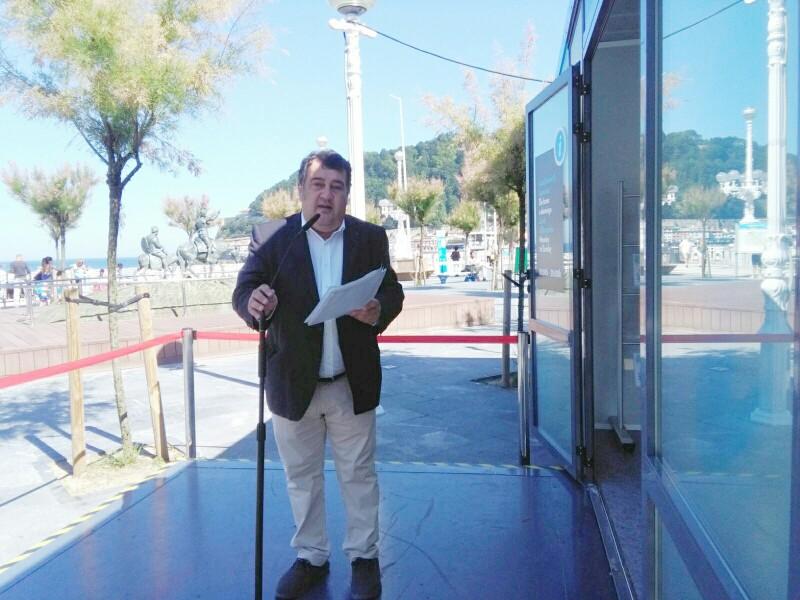 Ernesto Gasco esta mañana. Foto: A.E.