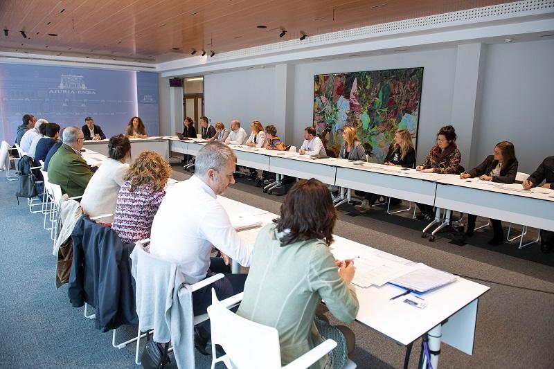 Comisión para la acogida e integración de personas refugiadas. Foto: Gobierno vasco