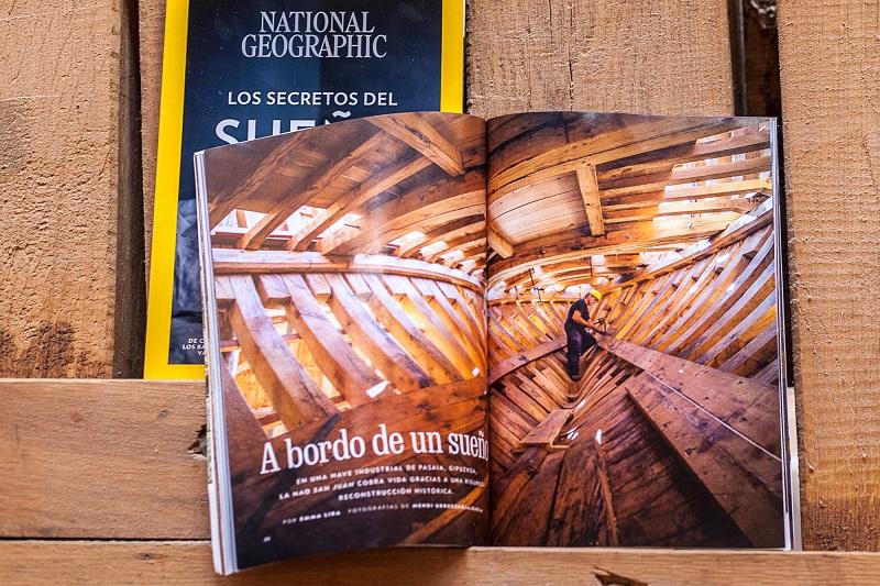 Albaola en National Geographic. Foto: Albaola