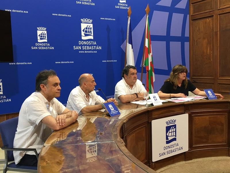 Representantes de Amara Berri, Ernesto Gasco y Duñike Agirrezabalaga. Foto: Ayto.