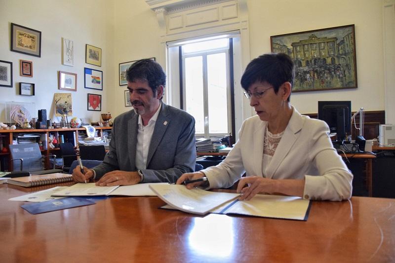 Eneko Goia y Estefanía Beltrán de Heredia. Foto: Ayto.