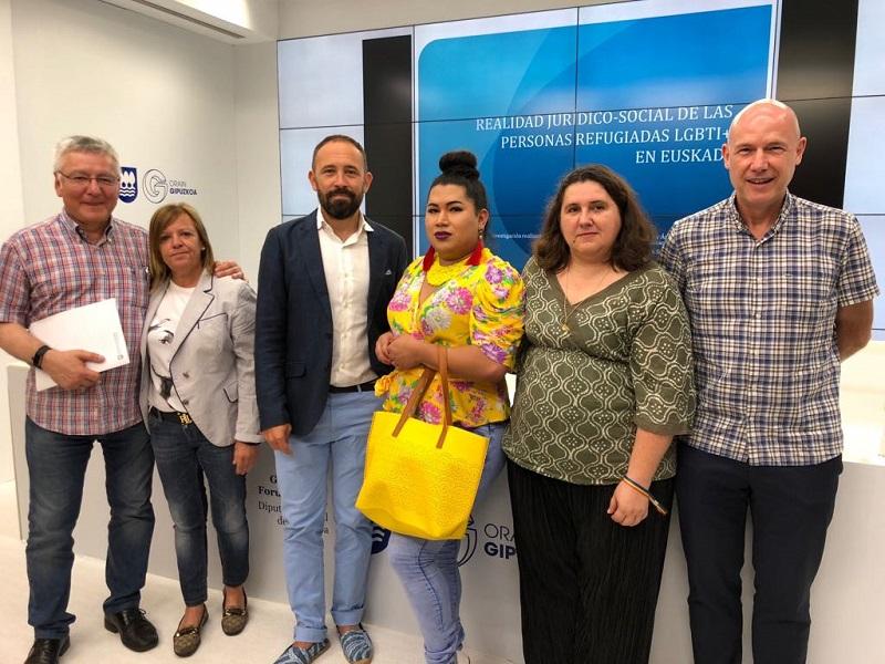 Presentación de un estudio sobre los refugiados LGTBI+ en la Diuptación el pasado 23 de julio. Foto: Diputación