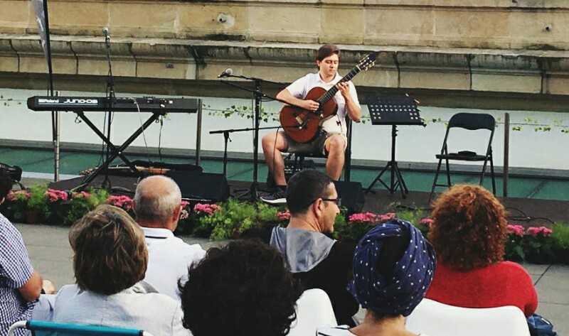Mikel Gorriti el pasado verano en Kutxa Kultur Gauak. Foto: Ángela Alonso