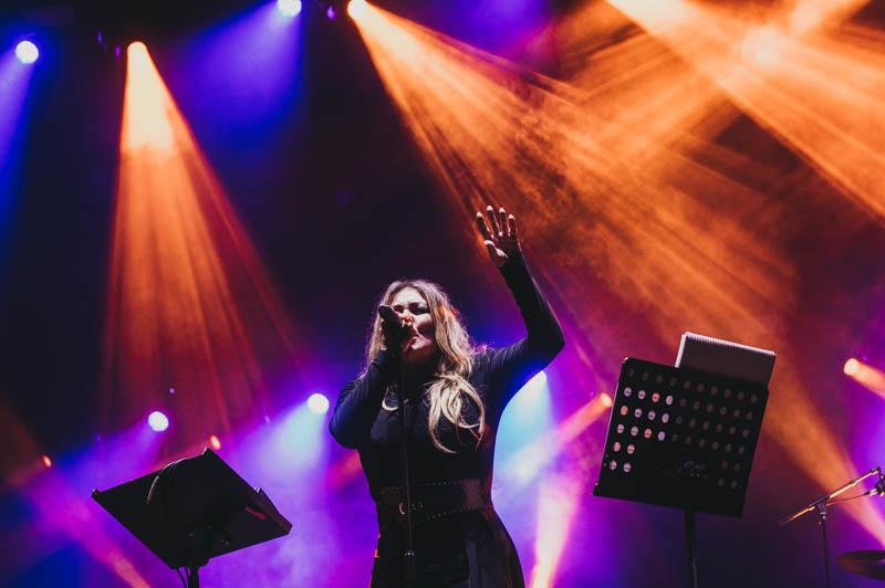 Amaia Montero reinó, anoche, en Sagües. Fotos: Santiago Farizano