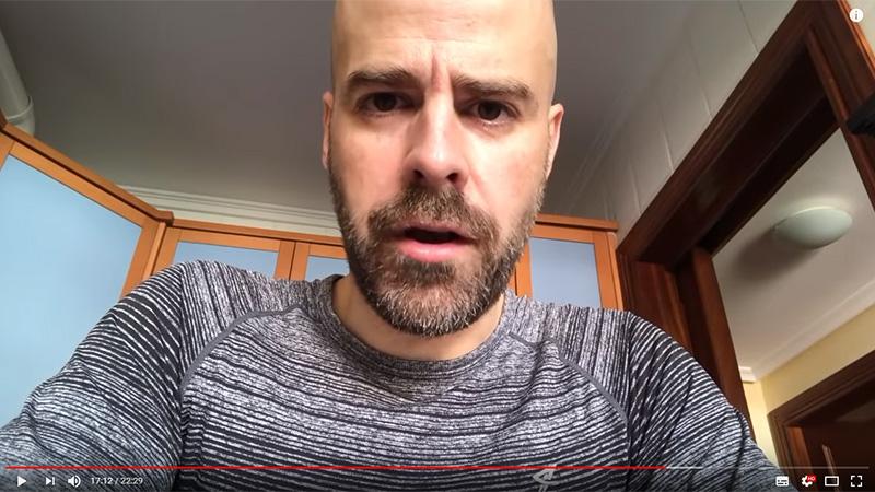 Captura del vídeo de Mario Díez presentado el 15 en youtube.com