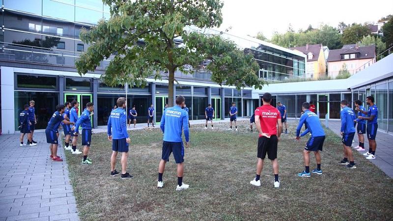 El equipo ya en Alemania. Foto: Real Sociedad