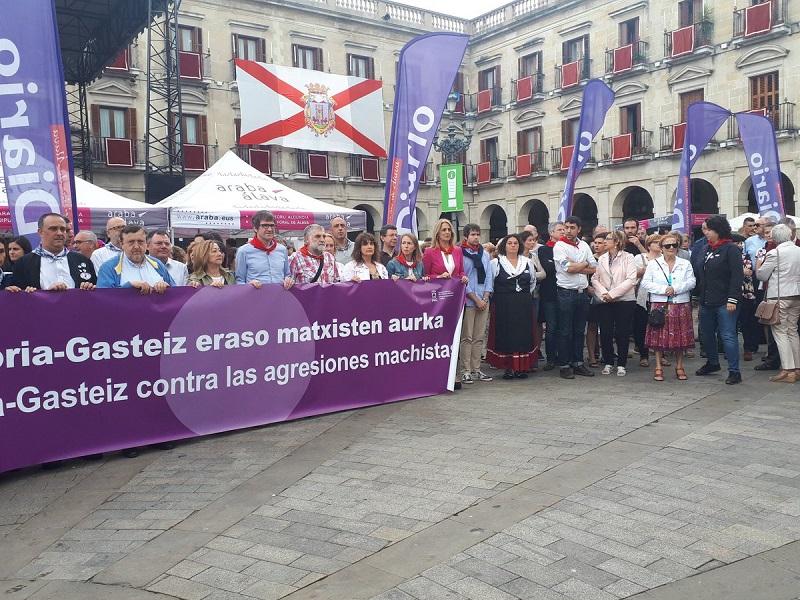 Manifestación en Gasteiz contra la agresión sexual. Foto: Vitoria nos gusta (vía twitter)