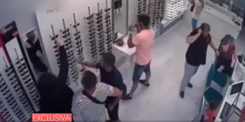 Captura del vídeo emitido por Tele 5.