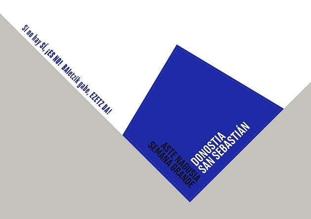 El pañuelo de las fiestas de este año con el eslogan ante agresiones sexistas.