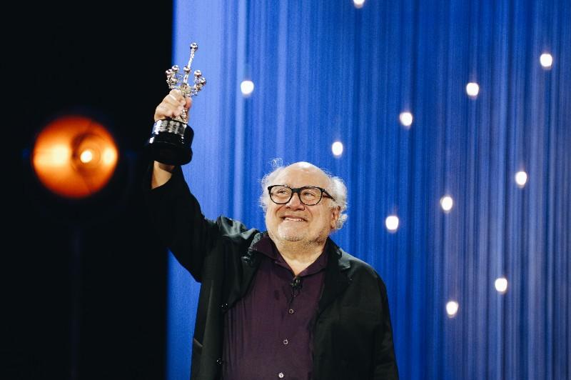 Un Danny DeVito muy emocionado durante la entrega del Premio Donostia. Fotos: Santiago Farizano