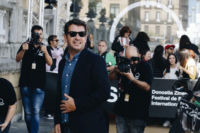 Arturo Valls la su llegada esta tarde a Donostia. Foto: Santiago Farizano