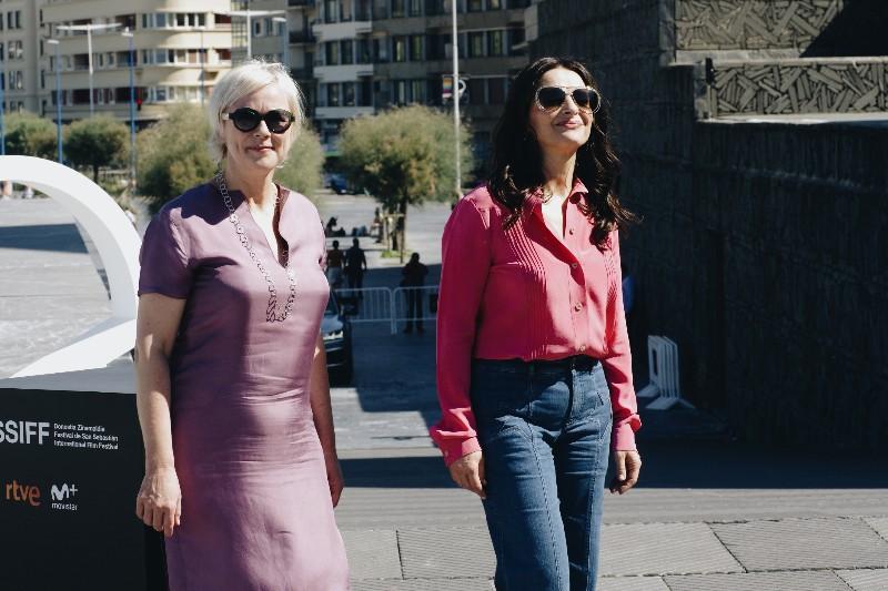 Marianne Slot y Juliete Binoche, productora y actriz de Vision. Fotos: Santiago Farizano