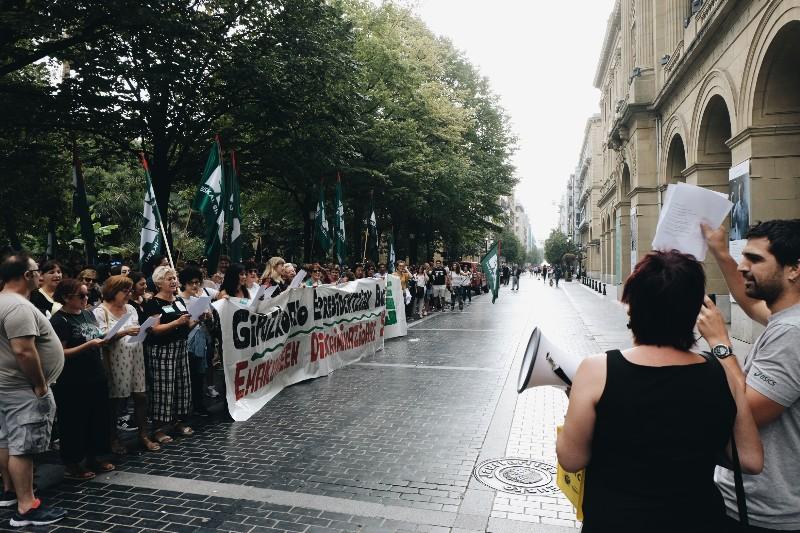 Manifestación hoy del sector el 28 de septiembre. Foto: Santiago Farizano