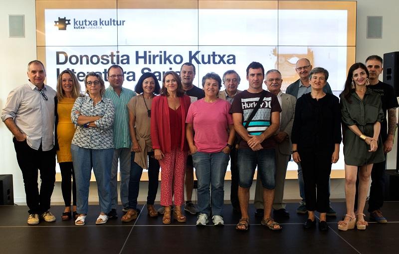 Imagen de los jurados en el acto en Tabakalera. Foto: Kutxa Kultur