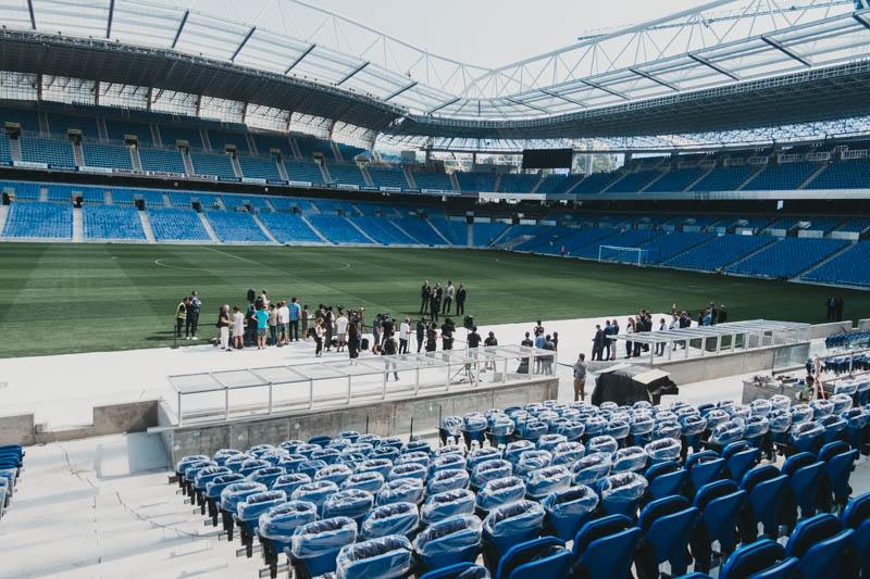 Visita oficial el pasado 12 de septiembre al nuevo estadio. Foto: Santiago Farizano