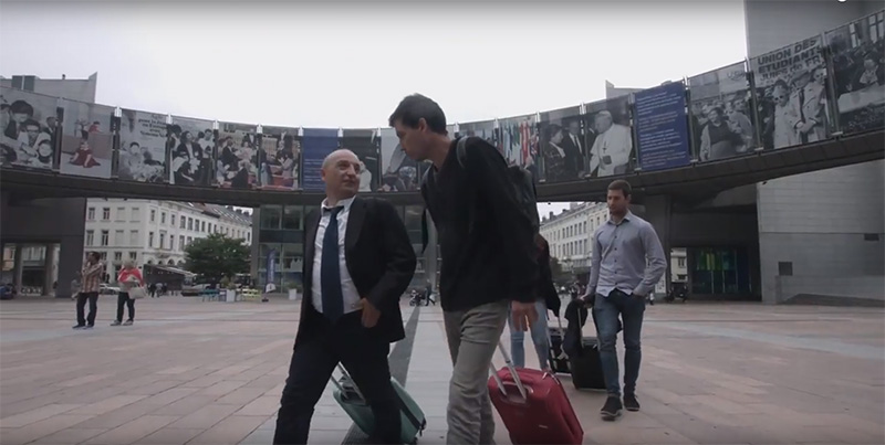 Los representantes de GuraSOS la pasada semana en Bruselas.