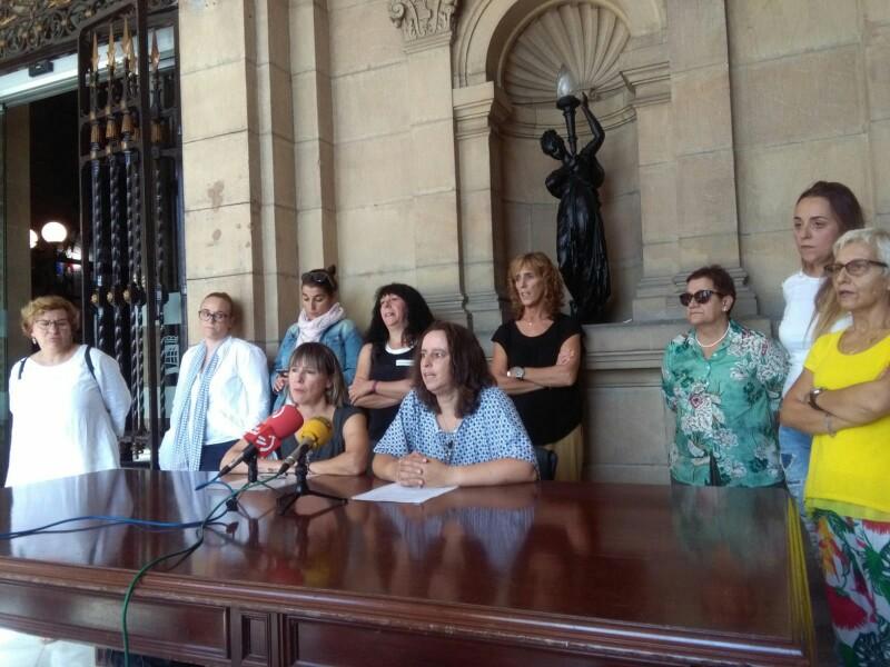 El comité de empresa durante la convocatoria de huelga el pasado 20 de septiembre. Foto: A.E.