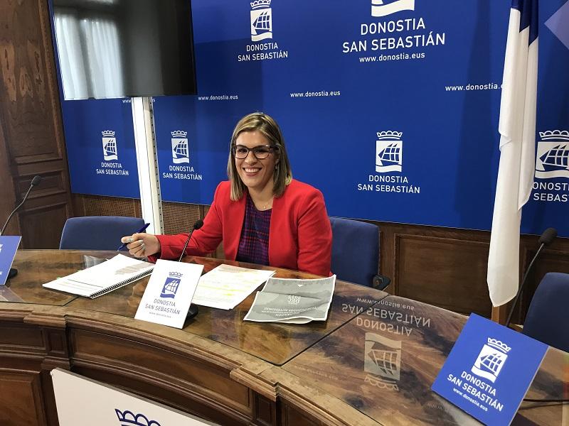 Rueda de prensa de Olaia Duarte. Foto: EH Bildu.