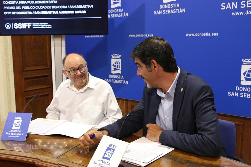 José Luis Rebordinos y Eneko Goia. Foto: Ayto.