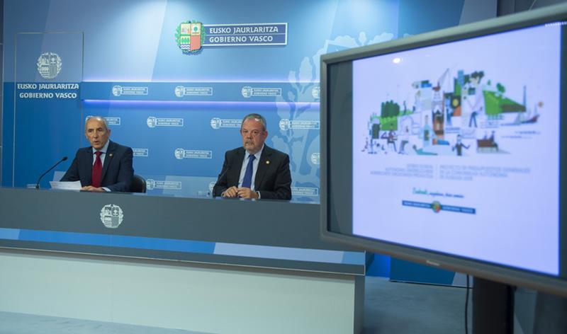 Presentación de los presupuestos esta mañana. Foto: Gobierno vasco